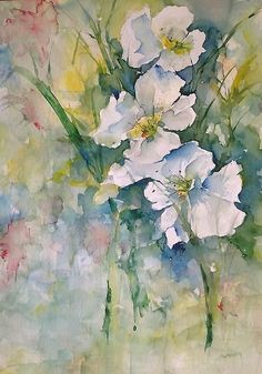 Watercolor Wild Flowers Painting by Robin Miller-Bookhout - Watercolor Wild Flowers Fine Art Prints and Posters for Sale: