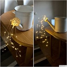 Outdoors Discover Watering can lights Solar Light Crafts Solar Lights Fairy Lights Garden Crafts Garden Art Garden Table Outdoor Projects Diy Projects Water Lighting Solar Light Crafts, Solar Lights, Fairy Lights, Bedroom Decor For Women, Diy Bedroom Decor, Wall Decor, Glow Water, Outdoor Projects, Outdoor Decor