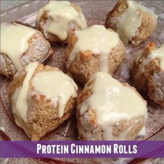 Ripped Recipes - Protein Cinnamon Rolls - Healthy, delicious, and packed with protein. These are a perfect way to start your day!
