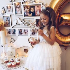 """⭐️⭐️Happy Birthday Anna Decorations on the cake @la_familia_shop, Dress ⭐️@shoshobella_couture, Cake @nastyasteshenko, Photo frame @azbukauyta"""