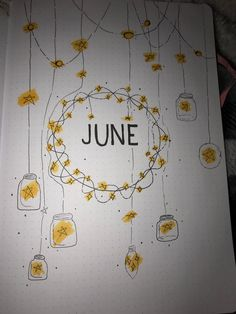 June Cover Page : bulletjournal Bullet Journal Cover Ideas, Bullet Journal Headers, Bullet Journal Month, Bullet Journal Banner, Bullet Journal Writing, Bullet Journal School, Bullet Journal Aesthetic, Bullet Journal Ideas Pages, Bullet Journal Inspiration