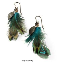 stylish feather earrings