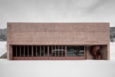 "Feuerwehrhalle Vierschach, Pedevilla Architects  ––––––  Pedevilla Architects  Images : Gustav Willeit  Text : Pedevilla Architects  –  ""Pedevilla Architects was founded in 2005 by brothers Alexander and Armin Pedevilla. Among the main ta..."