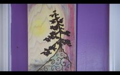 Simple and Easy Burnt Wood Tree Sunset Art (90 Second Video)