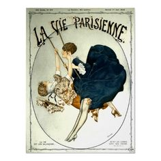 La Vie Parisienne ~ Vintage French Sheet Music Poster by TheVintageVamp Vintage French Posters, Vintage Postcards, Vintage Prints, French Vintage, French Postcards, Poster Ads, Poster Prints, Art Prints, Sheet Music