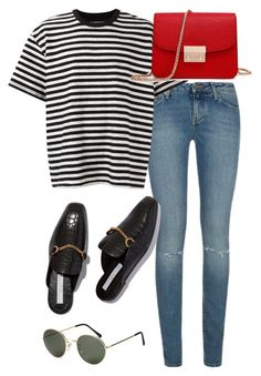 """Untitled #2439"" by mollyk99 ❤ liked on Polyvore featuring Yves Saint Laurent, À La Garçonne and H&M"