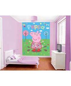 argos peppa pig muddy puddles wall mural