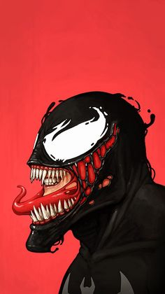 Venom Art Minimal iPhone Wallpaper - iPhone Wallpapers