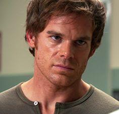 "dexter morgan - that ""I really need to kill someone"" stare."