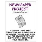 This is a newspaper project that allows students to be creative in making their own newspaper. This can be done as an individual writing assignment or perhaps a part of a larger unit. I have used this over a semester and given students one day per week to work on it - then by the end of the course, they have a summary of news that happened in their lives, community, state or world!