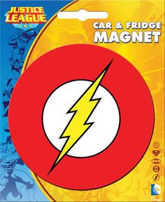 Show you're a fan of the Scarlet Speedster on your vehicle with this Flash Logo Car Magnet. To make this magnet last longer, remove it from your vehicle before getting it washed and make sure to wipe