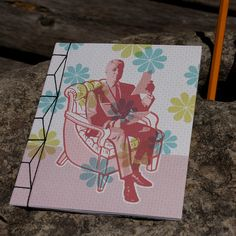 The Armchair, OOAK Blank Notebook by birddoodle on Etsy, $7.00
