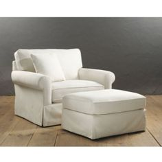 @Catherine Davis possible new chair and a half for the living room?  (Baldwin Upholstered Club Chair and Ottoman    Ballard Designs)