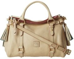 Dooney & Bourke Florentine Small Satchel (Bone With Self Trim) - Bags and Luggage on shopstyle.com