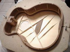 Sitca Spruce x-bracing and Imbuia bridge plate