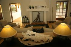 Living room of a private lodge House Property, Property For Sale, Game Lodge, Lodges, Interior Decorating, Interiors, Living Room, Home Decor, Cabins
