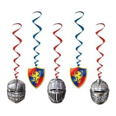 Medieval Whirls Party Accessory (1 count) (5/Pkg)