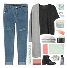 """nychthemeron"" by adal1ne ❤ liked on Polyvore featuring Monki, MANGO, Avenue, Michael Kors, Nimbus, MAKE UP FOR EVER, Pavilion Broadway, Living Proof, Trish McEvoy and Davines"