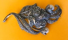 Kenneth Jay Lane for Avon Marcasite Rhinestone and Faux Pearl Signed Brooch Kenneth Jay Lane, Timeless Classic, Flower Brooch, Marcasite, Avon, Costume Jewelry, Pearls, Personal Style, Rhinestones