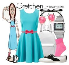 Gretchen by leslieakay on Polyvore featuring Forever New, Hue, Casio, Ippolita, RED Valentino, GRETCHEN, disney and disneybound