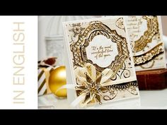 Elegant Holiday Card using Spellbinders dies and First Edition Papers. Card a Month #15