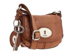 Fossil Maddox Small Flap Crossbody Handbag in Chestnut Brown NWT | eBay