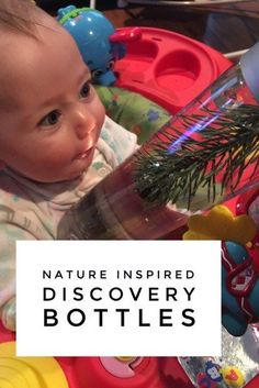 Nature Inspired Discovery Bottles make a safe way for the littlest of hands to explore nature.: