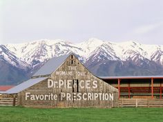 Dr Pierce's Barn, Wellsville Mountains in Distance, Cache Valley, Utah, USA Photographic Print by Scott T. Smith at Art.com