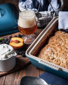 As beautiful as it is functional, this covered baking dish features superior performance in the oven or microwave and is ideal for baked goods and roasted dishes. Enamel-glazed in sea-inspired blue, this covered baking dish is crafted of dense stoneware. Made to block moisture absorption to prevent cracking and crazing, the baking dish has a brightly colored exterior that resists scratches and stains. #crateandbarrel #bakingessentials #lecrusetkitchen #stonewarebaking