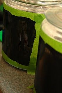 Chalkboard paint on canisters
