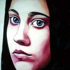 Girl, 100x 100cm, oil on canvas