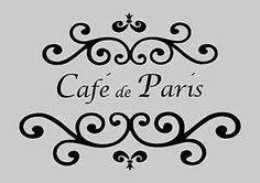 Free French Stencils | French style Café de Paris shabby chic fabric, furniture or wall ...