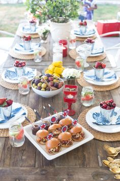 Red, White & Blue Party...perfect for the Fourth of July