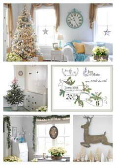 Welcome to my Christmas Home Tour where I hope you'll find loads of holiday decorating inspiration. Come on in and take a look around!