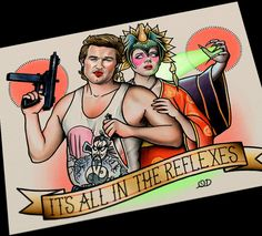 Big Trouble In Little China Tattoo Flash by ParlorTattooPrints