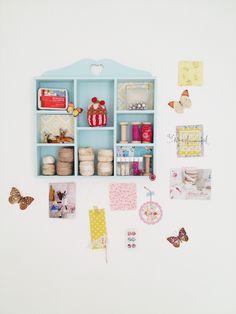 Heart Handmade UK: Pretty Craft Room Storage Part 1 | Dotcomgiftshop Heart Trinket Shelf