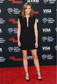 "Stana Katic at the movie premiere of ""The Lone Ranger"" on June 23, 2013"
