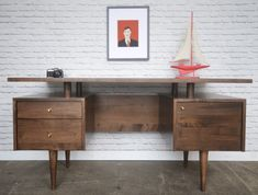 Hey, I found this really awesome Etsy listing at https://www.etsy.com/listing/236084766/clinton-desk-mid-century-modern-inspired