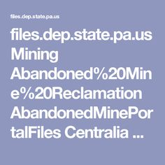 files.dep.state.pa.us Mining Abandoned%20Mine%20Reclamation AbandonedMinePortalFiles Centralia CentraliaFrequentlyAskedQuestions.pdf
