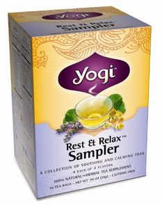 #Yogi Rest & Relax Sampler Herbal #Tea #Supplement Variety Pack, 16-Count Tea Bags (Pack of 6): Whether you need support getting through a stressful day or a little help falling asleep at night, rest & relax sampler offers a tea to relax and soothe.