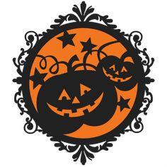 Halloween Pumpkin Frame  SVG scrapbook cut file cute clipart files for silhouette cricut pazzles free svgs free svg cuts cute cut files