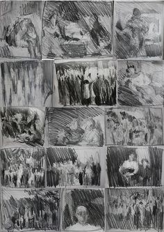 thumbnails (a sampling of recent quick, tiny sketches from various sources)