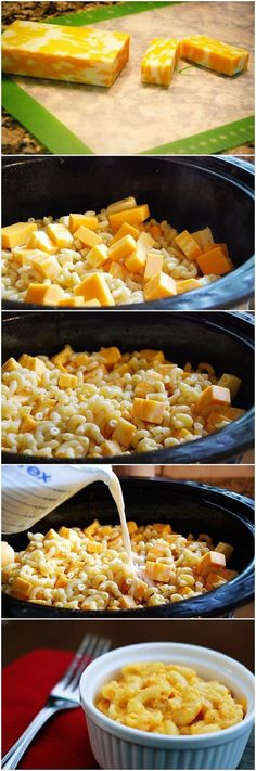 Crockpot Mac & Cheese - The colby jack cheese makes it kind of taste like the stoffers mac and cheese, delicious! *My favorite recipe so far! Next time I'll add just a bit less cheese - it was a lot! But amazing. Crock Pot Food, Crock Pot Slow Cooker, Slow Cooker Recipes, Crockpot Recipes, Grilling Recipes, Cooking Recipes, Cheese Recipes, Crock Pots, Crockpot Mac And Cheese