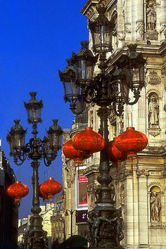 Chinese Lanterns in front of Hôtel de Ville, Paris, France Oh Paris, I Love Paris, Paris City, Paris Travel, France Travel, The Places Youll Go, Places To See, Beautiful World, Beautiful Places