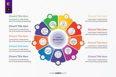Colorful infographic template with circle chart 9 options best infographic vectors design elements to help you with the presentation of your infographic, very easy to customize. Take a closer look to get started! Infographic Templates, Infographics, Type Setting, Vector Design, Lorem Ipsum, Get Started, Design Elements, Closer, Iron Man