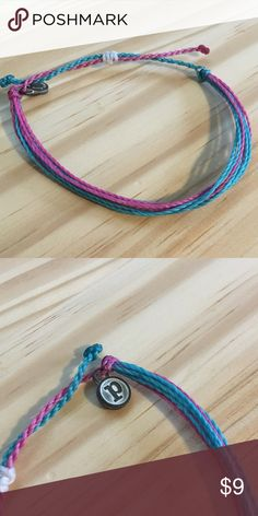 Pura Vida | Pink Blue Bracelet | Retired Pura Vida adjustable bracelet with pink and blue strands. NWOT. Offers welcome, or bundle 3 or more items for 20% off!!  No trades, outside transactions, or holds. Pura Vida Jewelry Bracelets