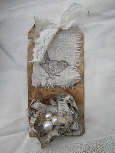Shabby Bird & Nest Tag...love it!
