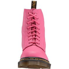 Dr. Martens Pascal 8-Eye Boot (Hot Pink Virginia) Women s Lace- f1acdb96c2d