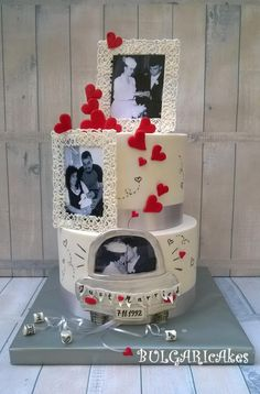 ...silver anniversary...:) by BULGARIcAkes - http://cakesdecor.com/cakes/294324-silver-anniversary