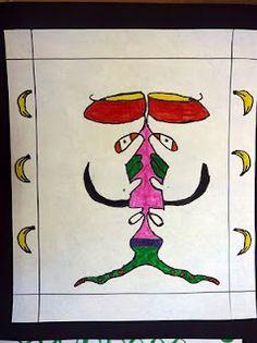 The Calvert Canvas: Adventures in Middle School Art!: Symmetrical Name Creatures